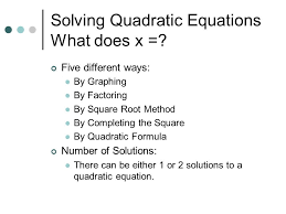 ways solve quadratic equations slide 2 portray marvelous solving
