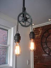 light fixture pulley light fixture home lighting within pulley lights fixtures image 7