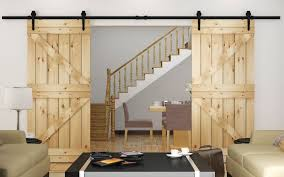 image of wood barn door sliders
