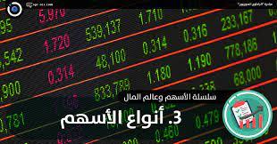 الباحثون السوريون - 3. أنواع الأسهم