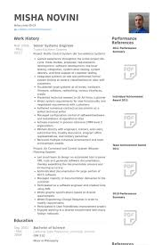 Senior Systems Engineer Resume samples