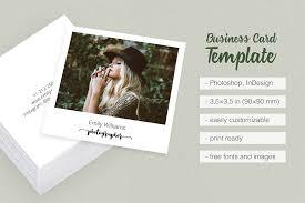 Square Polaroid Photographer Business Card