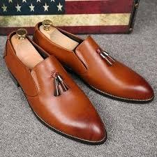 <b>Fashion</b> Genuine <b>Leather Men</b> Formal Shoes <b>British Style</b> Loafers ...