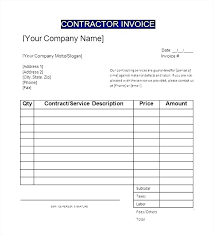 General Contractor Invoice Best General Receipt Template Club Sign Up Sheet Template Word New