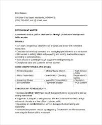cv for a waiter food service growth sample waiter resume 6 documents in pdf word