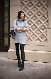 poshclassymom forever 21 chunky knit turtleneck sweater shein