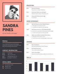 canva modern resume templates pink dark grey simple modern resume templates by canva