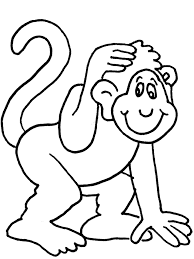 Small Picture Coloring Page Of A Monkey Monkey Color Pages Colouring