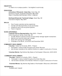 7 Sample Resume Objectives Sample Templates