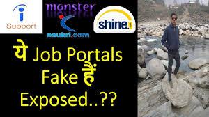 Shine Job Posting Fake Job Portals Exposed 2018 Indeed Shine Com Monster Naukri How To Identify Fake Job Offers