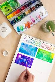 toolbox 8 watercolor techniques for beginners watercolor tutorial diycraftchallenge