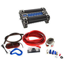 amp capacitor boss cap8 farad audio power capacitor bullz audio 1 0 gauge amp wiring kit