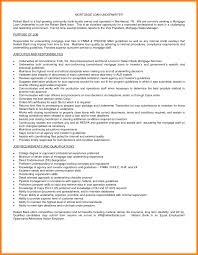 Loan Processor Resume Samples Amazing Mortgage Resume 421391