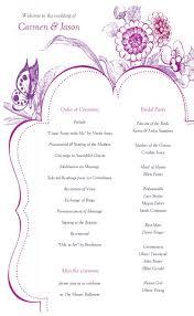 Templates For Wedding Programs Free Wedding Program Templates Template Business