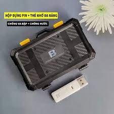 Hộp đựng thẻ nhớ SD, TF, micro SD, thẻ CF, Pin máy ảnh chống va đập và  chống nước hàng chính hãng - Thẻ nhớ và bộ nhớ mở rộng