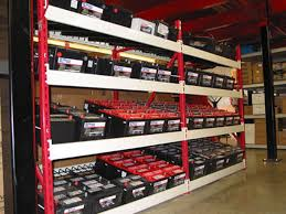 designed specifically to house tires and batteries for the automotive market these systems provide efficient storage and retrieval shelving for high
