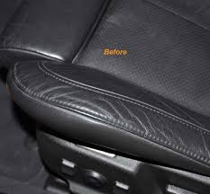 i divided the seat into upper and lower sections and applied the cleaner with a microfiber applicator that was dampened with 3 4 sprays of cleaner per