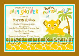 Baby Shower Invitation Backgrounds Free Fascinating Lion King Baby Shower Invites Simba Lion King Ba Shower Invitation