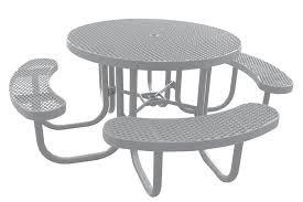 champion round picnic table