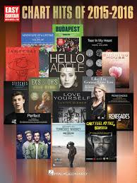 Charts Hits 2016 Chart Hits Of 2015 2016 By Softcover Sheet Music For