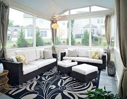 contemporary sunroom furniture. Contemporary Sunroom Furniture Porch With Black And Beige Rug Outdoor Cushion Manila Sofa