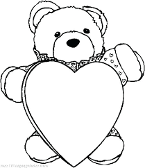 Teddy Bear With Heart Coloring Pages Teddy Bear With Heart Coloring