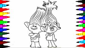 Small Picture Coloring Pages DREAMWORKS TROLLS Coloring Book Videos for Children