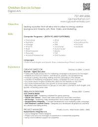 Artist Resume Objective Pleasing Production Artist Resumes About 100