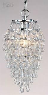 af lighting crystal clear teardrop contemporary foyer light af af lighting