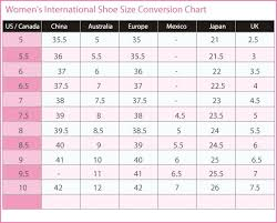 Shoe Lengths For U S European Shoe Sizes With Sizing Chart