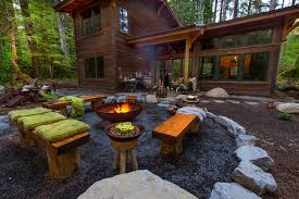 rustic fire pit. Unique Rustic Outdoor Fire Pit Cool Candle Holders Landscape With Cauldron Gravel