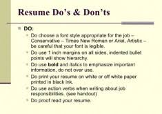 Resume Cover Letter Do S And Don Ts Resume Templates