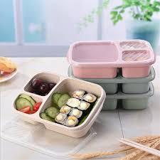 Wheat Straw Microwave Bento Lunch <b>Box</b> Picnic SuShi Food Fruit ...