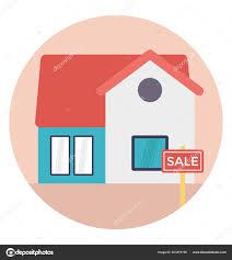 Illustration Board House Design Sale Sign Board House Building House Sale Stock Vector