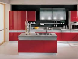 Red Gloss Kitchen Cabinets Kitchen Cabinet Stunning Red Kitchen Cabinets Awesome Red