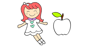 Small Picture Baby doli and Fruit Coloring Pages for Children Kids Learn How