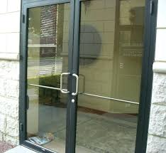 glass entry doors commercial front