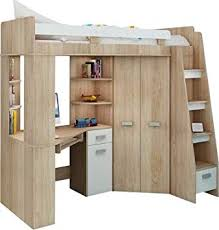 High Sleeper/Bunk Bed/Entresole   ALL IN ONE Right Hand Side Stairs