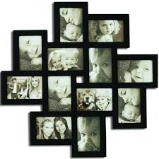black wooden collage picture frames for wall decoration ideas