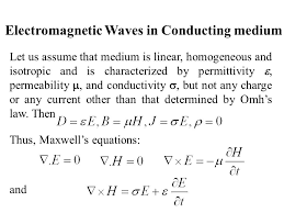 electromagnetic waves in conducting um