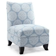 blue slipper chair fox hill trading penelope armless towers blue