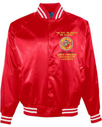 satin jacket embroidery work made in usa