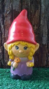 female garden gnome. Exellent Female Female Garden Gnomes  Gnome Ceramic Girl Garden Gnome In E