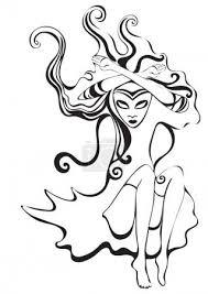 Vektorová Grafika Piková Královna Znamení Zvěrokruhu Panna