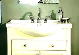 narrow bathroom sink small modern corner vanity wall mount depth