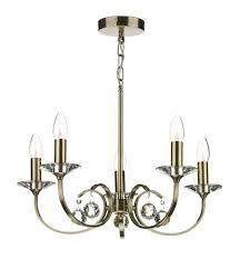 allegra 5 light antique brass pendant ceiling light 827479 all0575