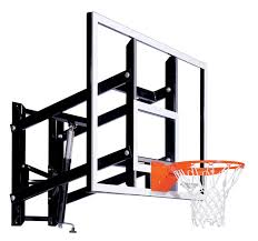 goalsetter adjule wall mount basketball goal system with acrylic board 60 in backboard steel backboard