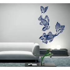 koi carp fish vinyl wall art decal