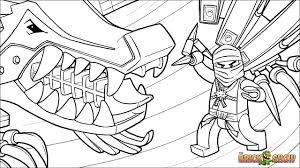 Lego Ninjago Zane And His Ice Dragon Coloring Page Lego Ninjago