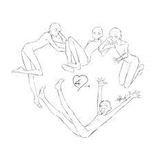 トレス可環状構図集 11 人体描き方2019 グループのポーズ集